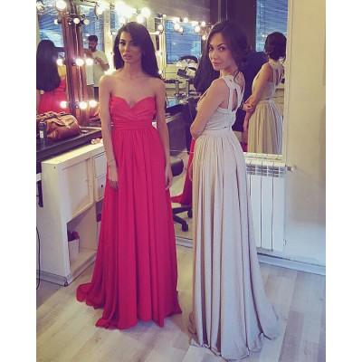 Rochie de ocazie eleganta rosie sexy lunga din voal