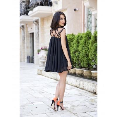Rochie delicata din voal lejera neagra
