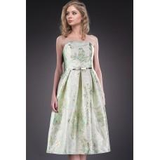 Rochie eleganta cu fusta clos si imprimeu special 5