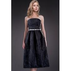 Rochie eleganta cu fusta clos si imprimeu special 6