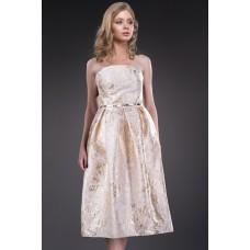 Rochie eleganta cu fusta clos si imprimeu special 7