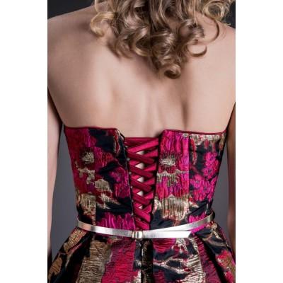 Rochie eleganta cu fusta clos si imprimeu special 3