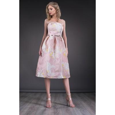 Rochie eleganta cu fusta clos si imprimeu special 2
