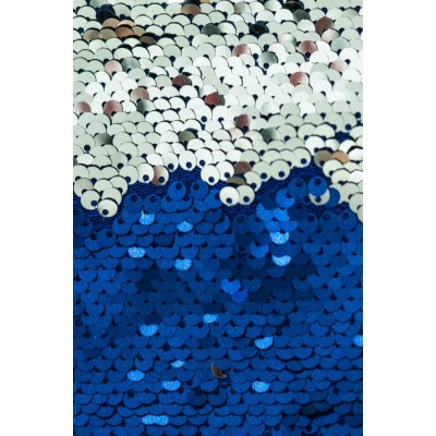 Rochie sexy mulata scurta realizata complet din paiete albastre